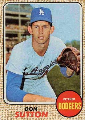 baseball cards don sutton | ... set name 1968 topps card size 2 1 2 x 3 1 2 number of cards in set 607