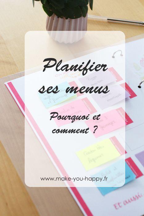 Comment et pourquoi planifier ses menus : c'est écologique, économique et ça vous fait gagner du temps !