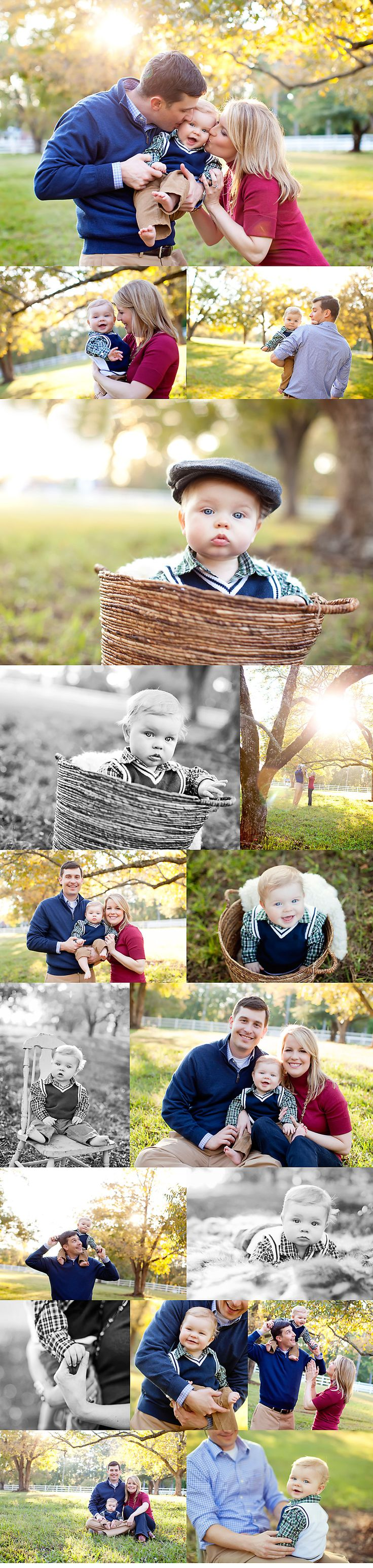 family shoot with 9 mos old.  Love the basket idea!