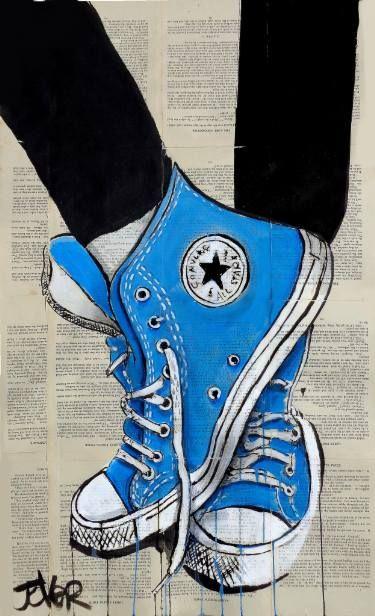 Desenho de All Star's Converse #azul #blue #art Mais