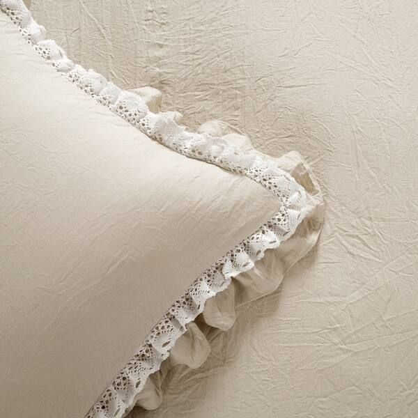 Silver Orchid Gerard Shabby Chic Ruffle Lace Comforter Set In 2020