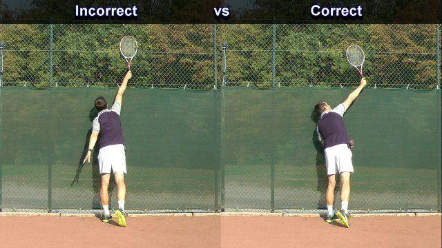Incorrect Tennis Serve At Contact Tennis Serve Tennis Drills Tennis Lessons