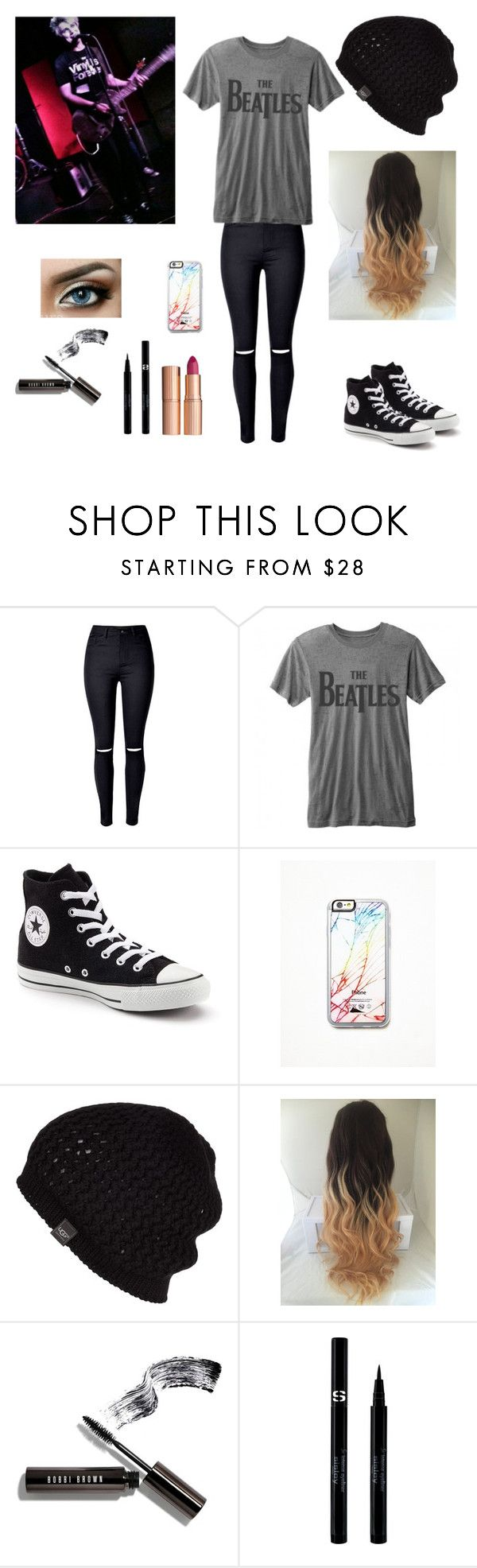 """seeing dalton at his show :))"" by chloegrenier ❤ liked on Polyvore featuring WithChic, Converse, Free People, UGG Australia, Bobbi Brown Cosmetics, Sisley and Charlotte Tilbury"
