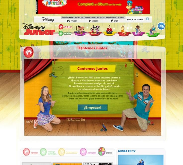 Pantalla Inicial - Aplicación de Karaoke para Disney Junior
