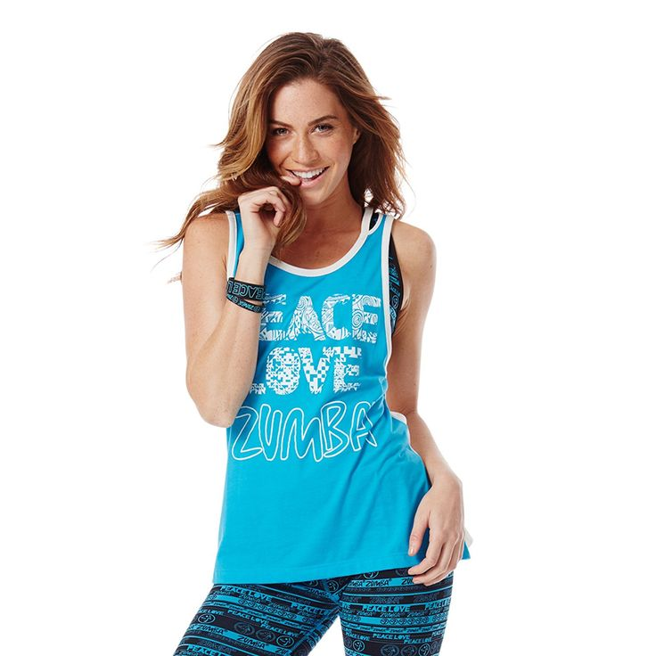 Zumba Fitness Love -n Loose T-Shirt Femme Bangin Blue FR : XS (Taille Fabricant : XS): Amazon.fr: Sports et Loisirs