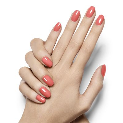 tart deco by essie - chic, modern and dreamy coral nail lacquer creates a manicure masterpiece.