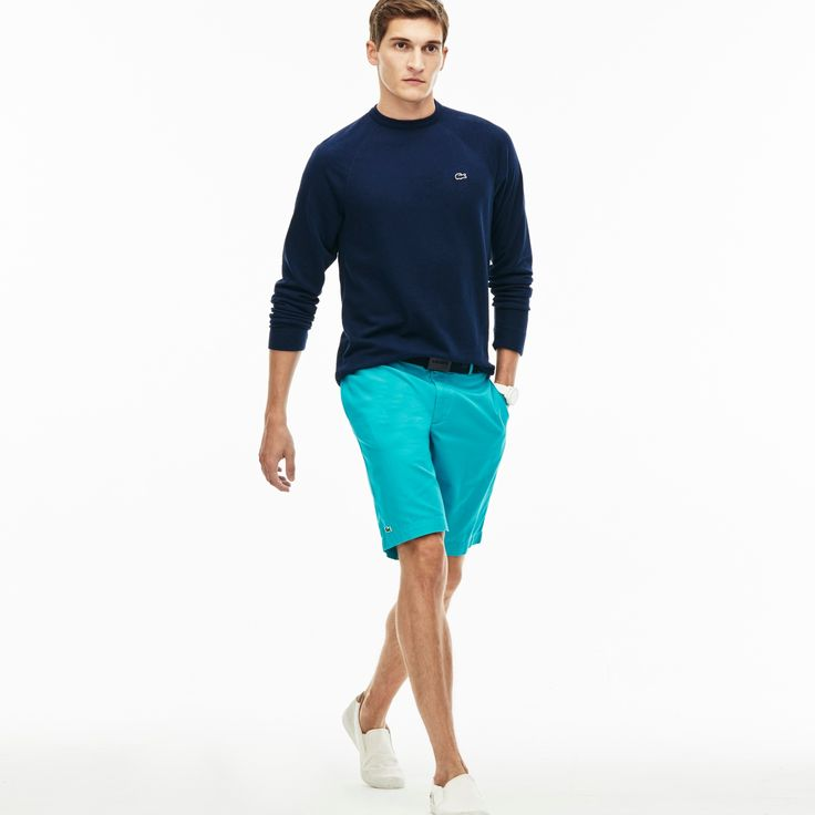 LACOSTE Men'S Classic Gabardine Bermuda Shorts - Bermuda. #lacoste #cloth #all  Love The outift! Not the dude hahhaha