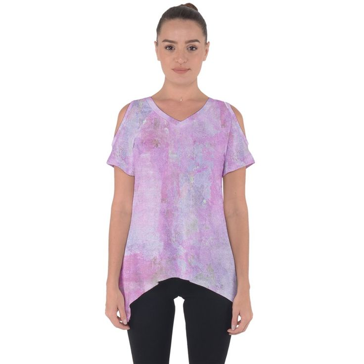 Pink Texture Cut Out Side Drop Tee      Made from 90% Polyester, 10% Spandex     Soft, stretchy, lightweight and quick drying fabric     Standard Fit     Machine Washable     Designs imprinted using an advance heat sublimation technique