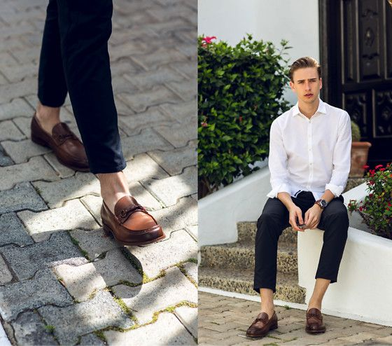 Get this look: http://lb.nu/look/8224125  More looks by Oliver Lips: http://lb.nu/oliverlips  Items in this look:  Pedro Horsebit Loafers, Jacques Britt Shirt   #chic #classic #elegant