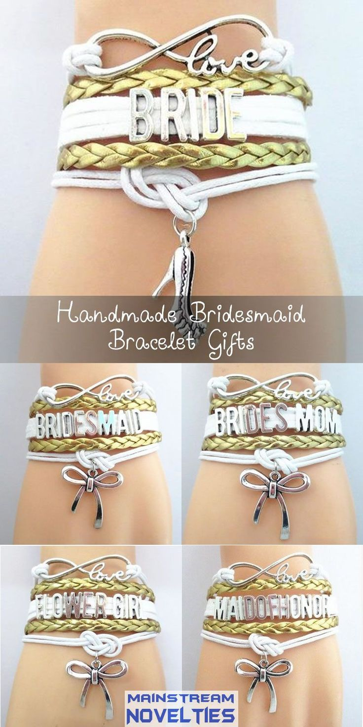 The perfect gold themed wedding gift for the bridal party! I just love this bracelet.