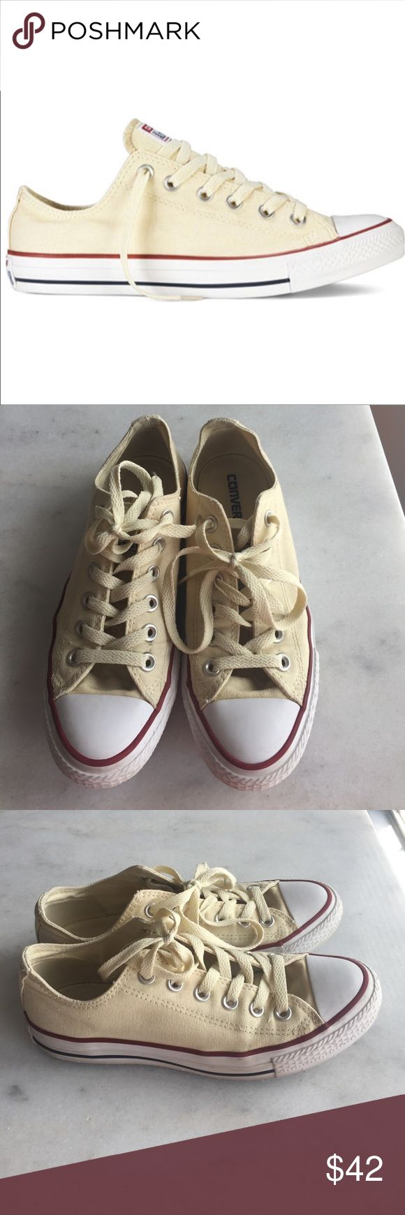 Converse Shoes Cream Converse (inner tag says M5/W7) Converse Shoes Sneakers