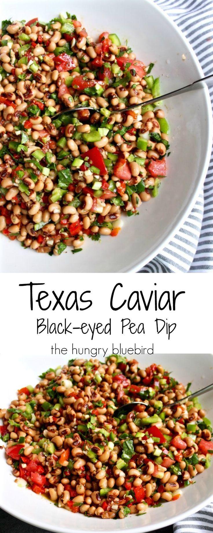 Texas Caviar or Cowboy Caviar ~ black-eyed pea dip