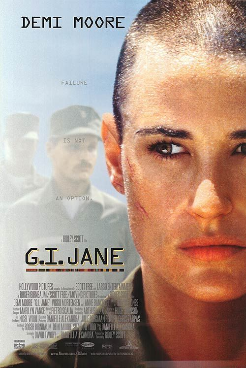 G.I. Jane (1997) A female Senator succeeds in enrolling a woman into Combined Reconnaissance Team training where everyone expects her to fail.  | ↠@ambika95↞