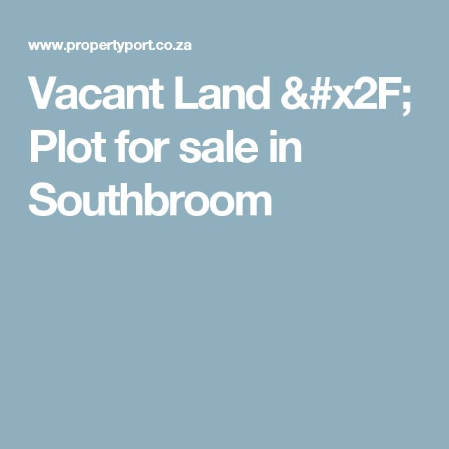 Vacant Land / Plot for sale in Southbroom