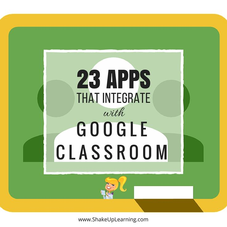 PinterestGoogle Classroom Apps! Did you know that Google Classroom plays well with others? Yep! Google is known for making their applications open to working with third-party applications, and Google Classroom is no exception. Are you using Google Classroom? I have put together a list of 23 Apps that Integrate with Google Classroom, making it even …
