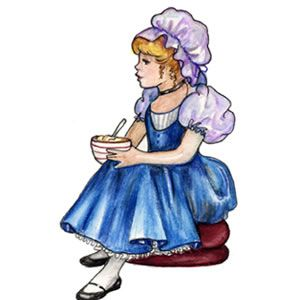 Little Miss Muffet costume inspiration.