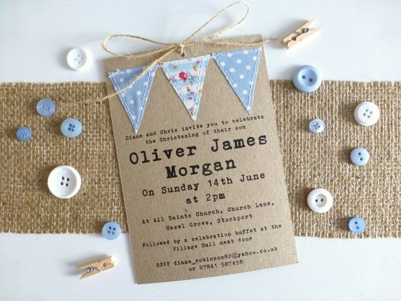 Handmade Baby Invitations with beautiful invitations design