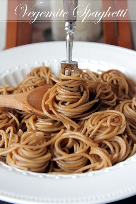 Vegemite (or Marmite!) Spaghetti - may well try this next time Sunny's out!