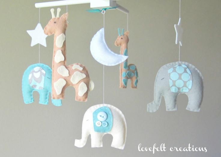 O MG >>>>> ELEPHANT Mobile... So cute! Baby crib mobile - Custom