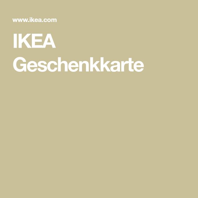 IKEA Geschenkkarte --> kann man immer gebrauchen 😃🏡