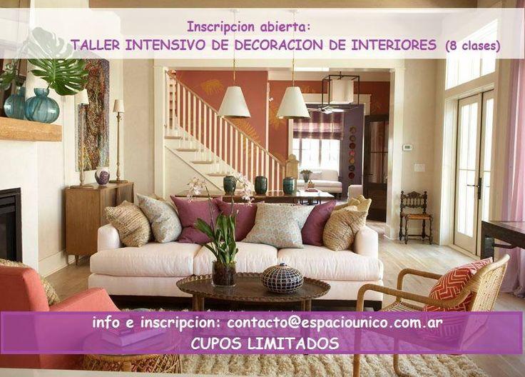 Inscripción abierta para el Taller Intensivo de Decoración de Interiores en Rosario de 2 meses de duración.
