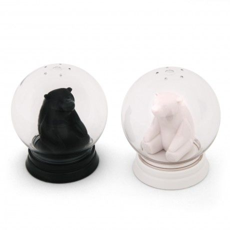 An inspired twist on a classic design, these salt and pepper shakers are right for all seasons.