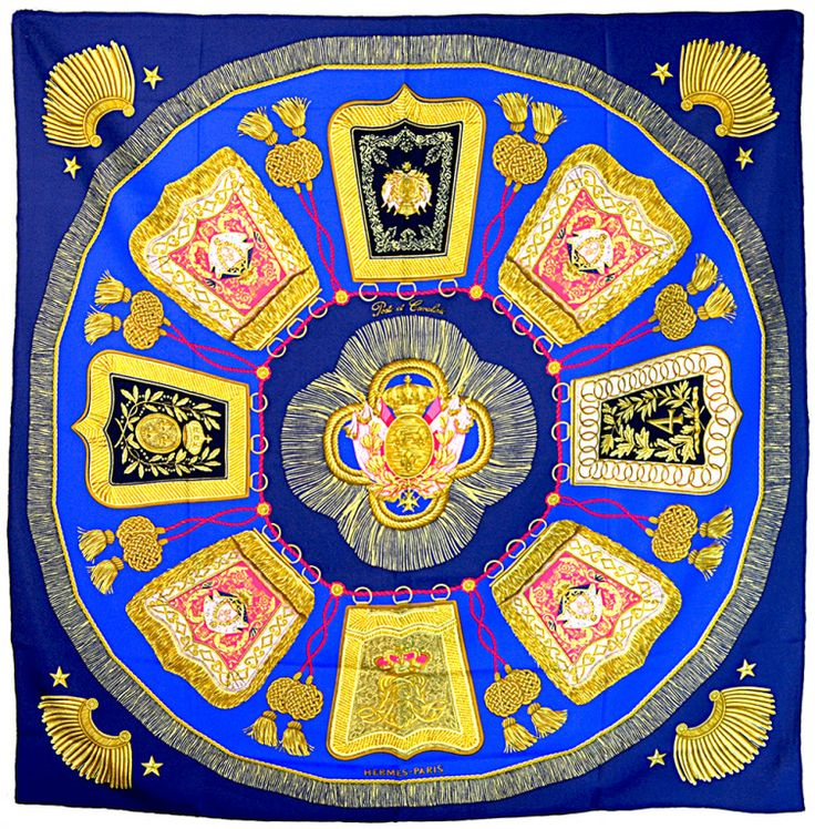 """Hermes """"Poste et Cavalerie"""" Silk Scarf 