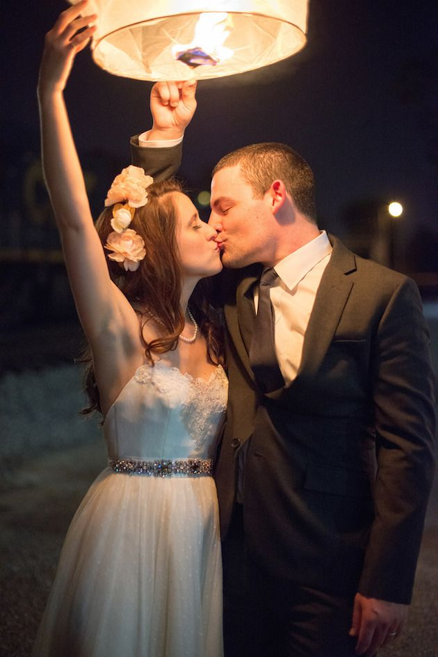 New Years Eve Wedding | Wish Sky Lantern | Bridal Musings Wedding Blog