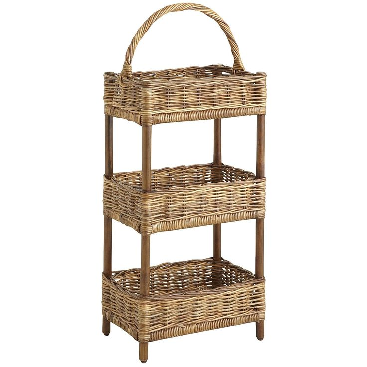 Exceptional 3 Tier Rattan Basket