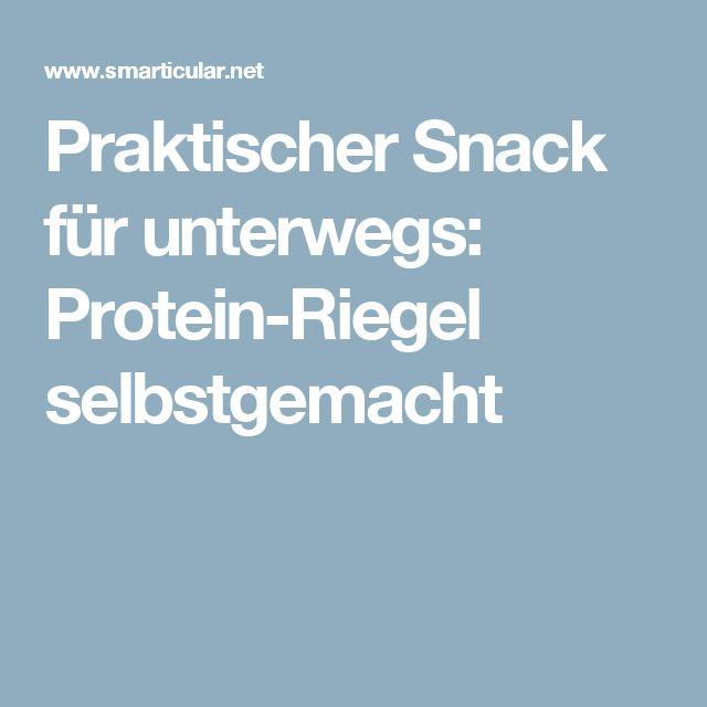 Praktischer Snack für unterwegs: Protein-Riegel selbstgemacht