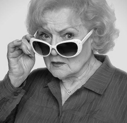 Betty White: One thing they don't tell you about growing old - you don't feel old you just feel like yourself. And it's true. #BettyWhite #HumanNote #humannote