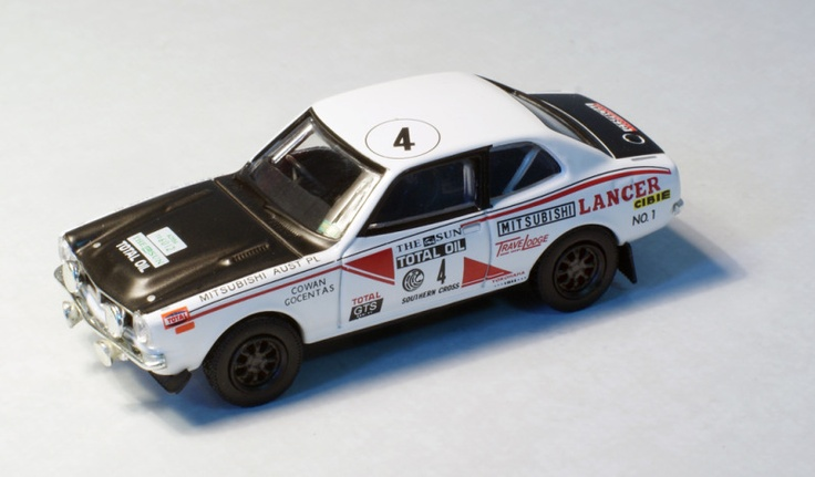 Mitsubishi Lancer 1600GSR 1975 Southern Cross Rally (Andrew Cowan and Fred Gocentas)