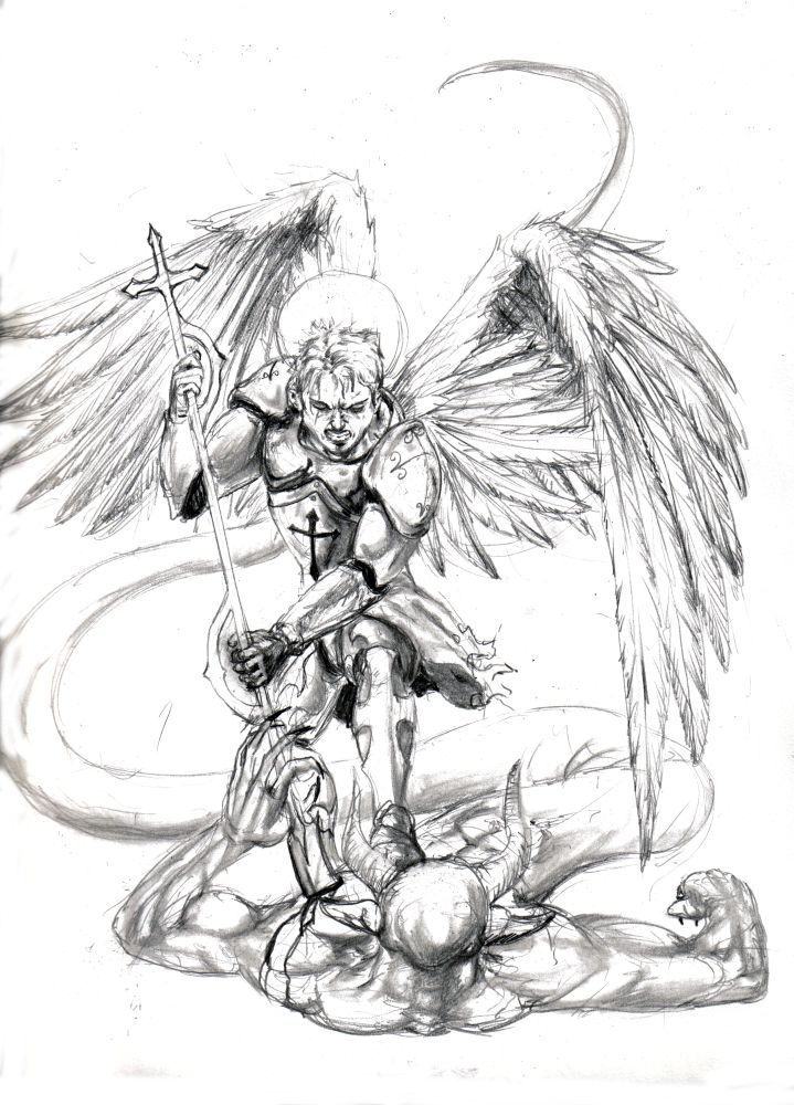 archangel michael tattoos | Michael the Archangel by razwit