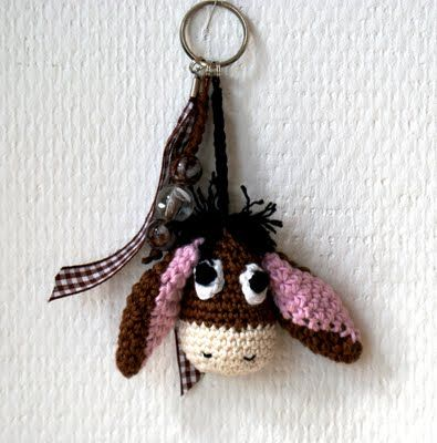 Eeyore crochet key fob amigurumi free pattern link
