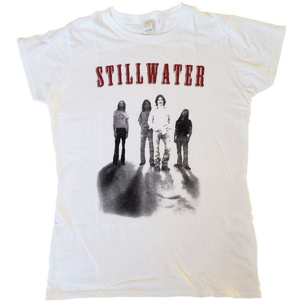 Stillwater Womens T-Shirt as the Band Is Given in Almost Famous Movie... ($15) ❤ liked on Polyvore featuring tops, t-shirts, silver, women's clothing, tee-shirt, t shirt, checkered top, white tops and checkered shirt