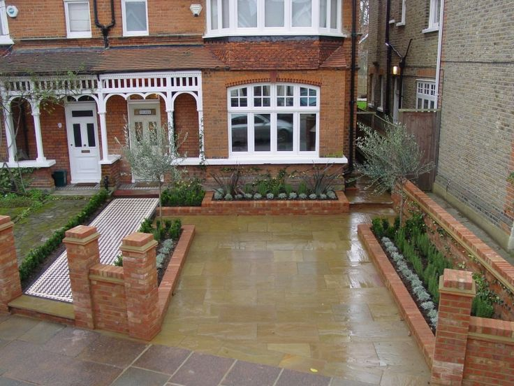Edwardian front garden - idea for the driveway
