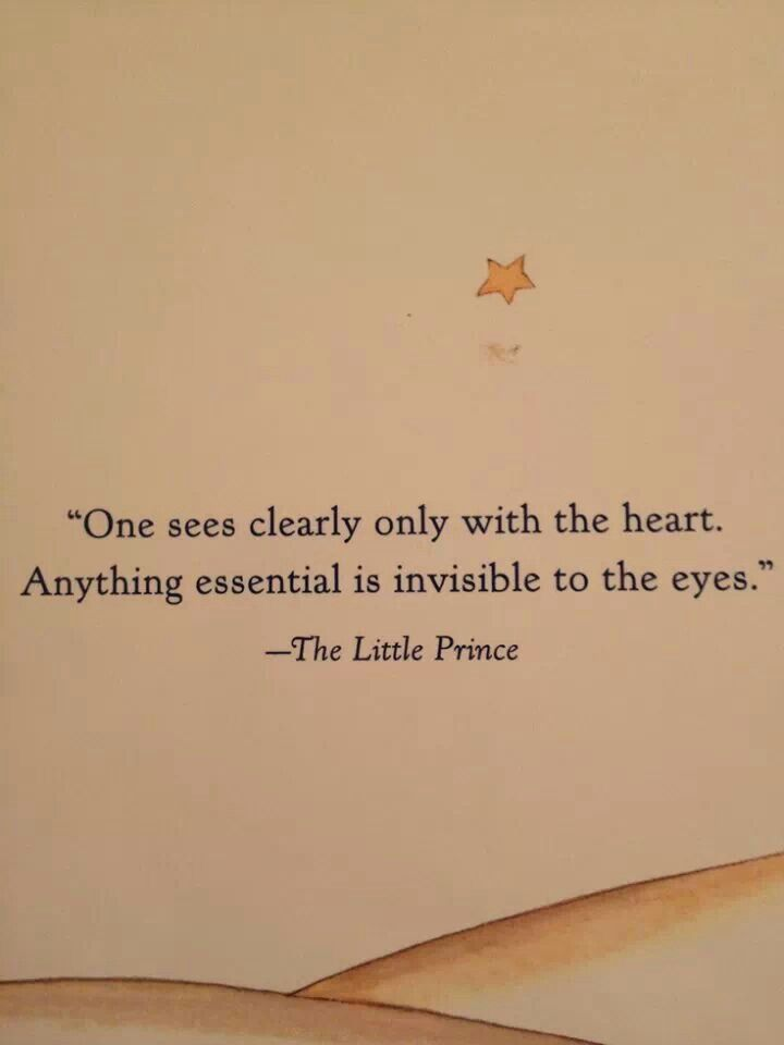 One sees clearly only with the heart