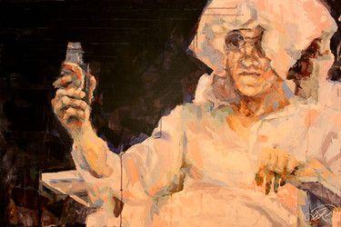 "Saatchi Online Artist Henri Lamy; Painting, ""Eric Bronzant"" #art"