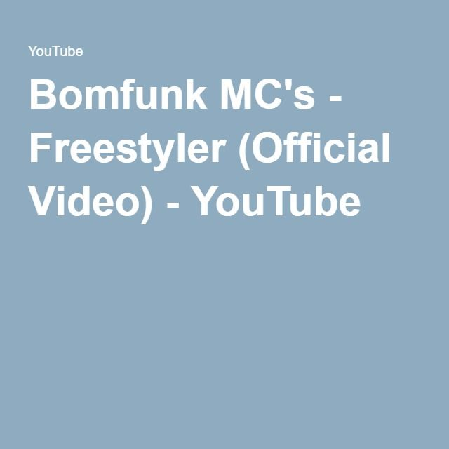 Bomfunk MC's - Freestyler (Official Video) - YouTube