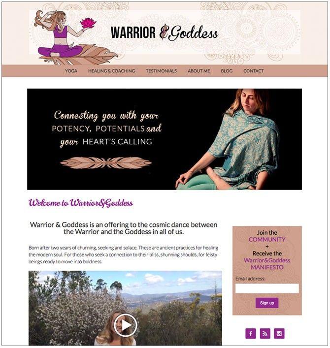 Warrior&Goddess Website | Riss Carlyon | Healing, Coaching and Yoga