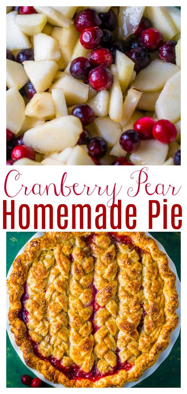 Cranberry Pear Pie Baker By Nature Recipe Cranberry Dessert Cranberry Pie Recipes Thanksgiving Pie Recipes