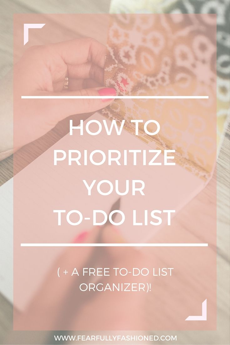 Creating a to-do list is the easy part but prioritizing & executing it is another story. Learn how to prioritize & execute your to-do list in this post & download a free master list template! Click here to read now or pin to save for later. #productivity #organization #FearfullyFashioned