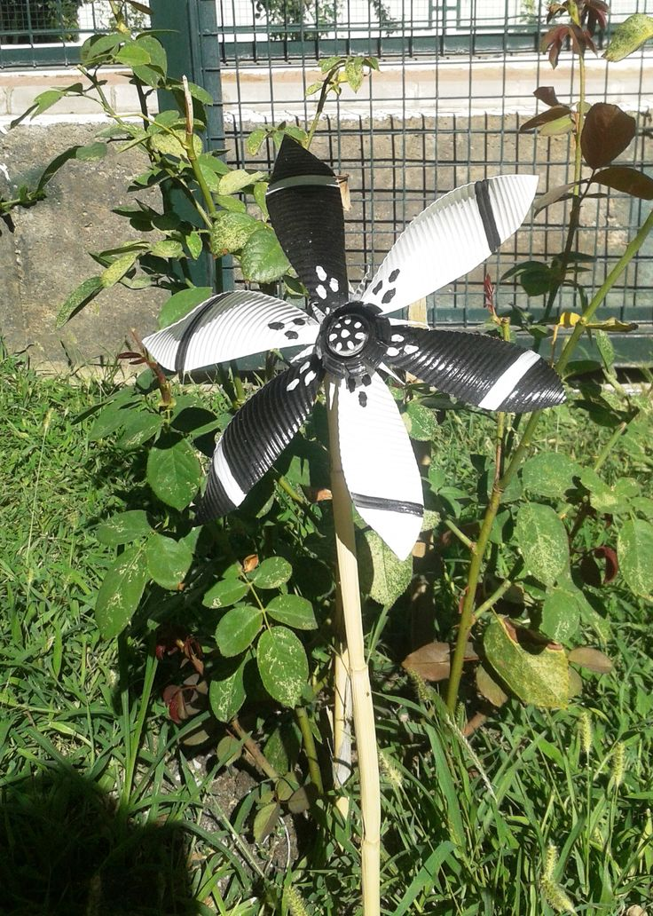 Beşiktaş - pet şişeden rüzgargülü - evsel atık - bottles recycled to windmills - garden pinwheel -