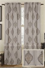 Attractive Peace Jute Curtain Panel | BestWindowTreatments.com