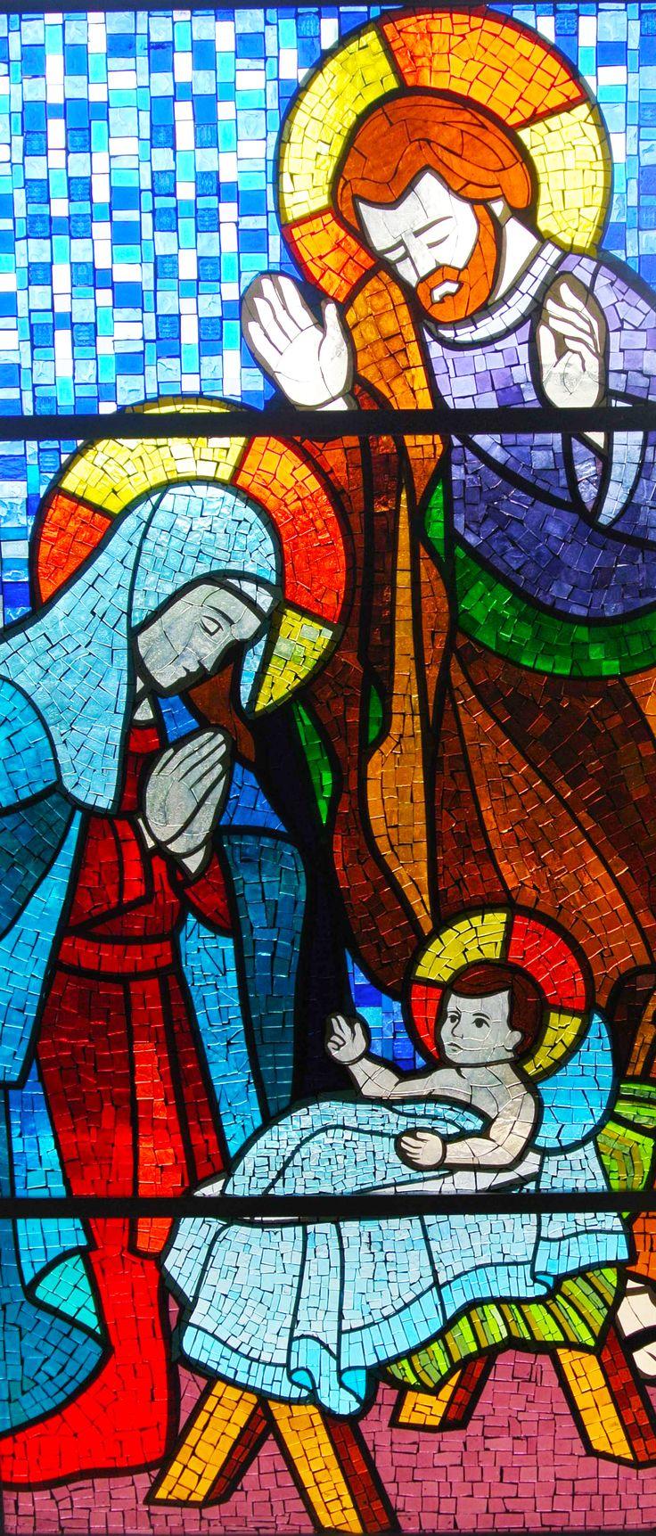 Presépio em vitral mosaico. | Vitrais Religiosos ...