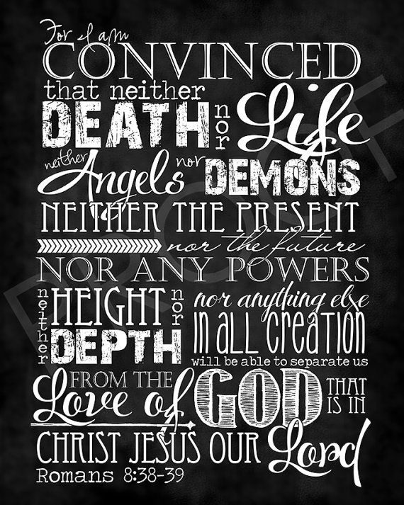 Scripture Art  Romans 8:38-39  Chalkboard by ToSuchAsTheseDesigns