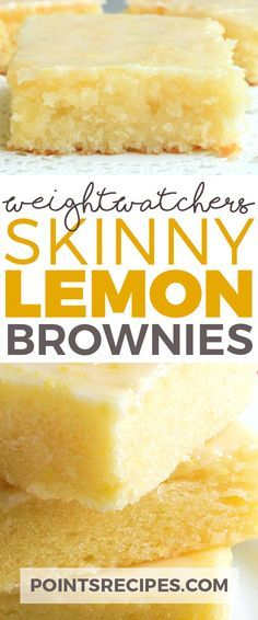 Skinny Lemon Brownies (Weight Watchers SmartPoints) More