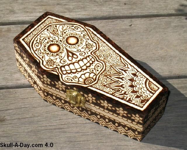 This Is Pyrography Wood Burning On A Wooden Box It Was