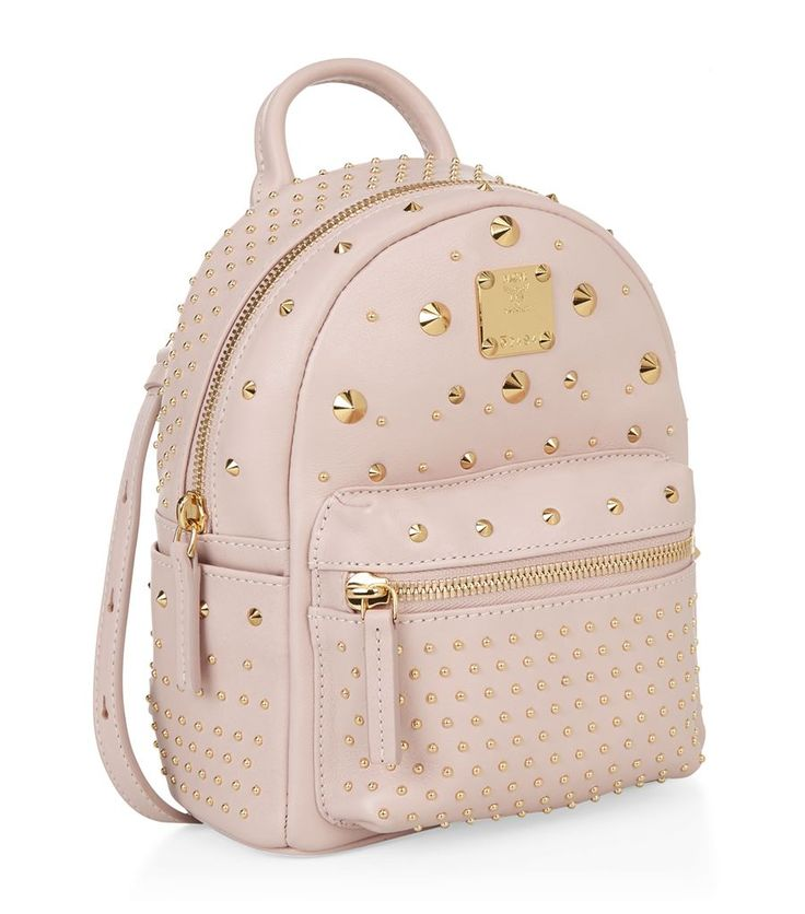 MCM Studded Bebe Boo Backpack | Harrods