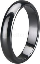 5mm Black Zirconia Ceramic Court Wedding Ring